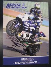 Müller Racing Team IDM SBK 2007 # 26 Didier Grams (D) gesigneerd