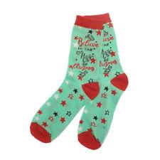 Country Club Ladies Xmas Socks, Magic Novelty Fun Colourful Festive One Size