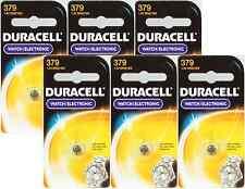 6 NEW Duracell 379 Button Coin Battery Silver Oxide 1.5 volt Watch/Calculator