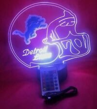 Lions Lamp LED Light Up Night Lights With Remote and Personalized Free NFL Lamp