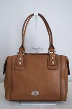 FOSSIL $349 Large Marlow Chestnut Brown Pebbled Leather Satchel Bag Handbag BNWT