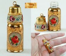 "Vintage Austrian 1.5/8"" Miniature Perfume bottle Pendant 1950's"