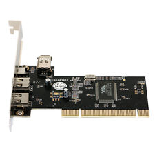 New 3 Ports Firewire IEEE 1394 4/6 Pin PCI to 1394 DV Card Controller Video Capt