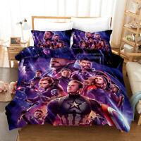 Avengers 4: Endgame Design Bedding Set 3PC OF Duvet Cover Pillowcase Double King
