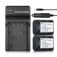 Battery + Charger For Sony NP-FH50 NP-FH40 NP-FH60 NP-FP70 NP-FH30 HDR-TG1