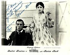 The GENERAL -  Buster KEATON - Marion MACK + envoi /autographe -1926 /76 - USA