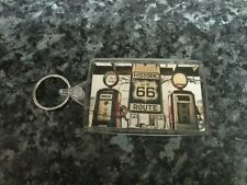 Route 66 Gas Station Jumbo Keyring NEW. Americana, The Open Road. Petrol Pumps