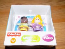 Fisher Price Little People Disney Princess Rapunzel & Tiana Toy Figures Tangled