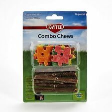 16 pcs Apple Wood & Loofah Chews for Rabbits & Other Small Animals
