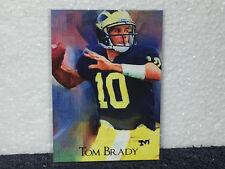 Tom Brady - Michigan Wolverines Football Art Card - 2007 - 1 of 499 - Patriots