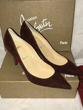 NIB Authentic Christian Louboutin Apostrophy 85  Suede Heels Shoes 40  10  $675