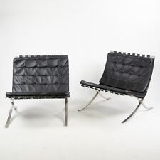 1950's Museum Quality Knoll Mies Van Der Rohe Barcelona Chairs Stainless Pair