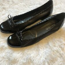 Rose Petals by Walking Cradles Women's Size 11M Black Bow Tie Flats Shoes