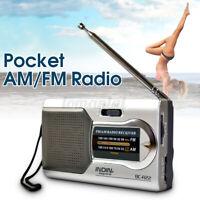Portable AM/FM Mini Telescopic Antenna Radio Pocket World Receiver Speaker US Y