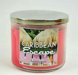 New Bath & Body Works 3 Wick Candle Caribbean Escape 14.5oz
