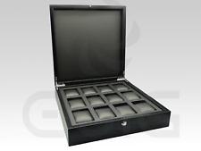 Caja estuche relojero EWIG para 12 relojes, alta calidad - Para Panerai, Rolex.