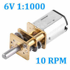 1:1000 DC 6V 10 RPM High Torque Reduction Gear Motor Gearmotors Mini US Delivery