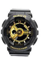 Casio Baby-g Black and Gold Tone Ani-digi 3d Watch Ba110-1a
