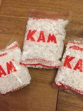 20 Kam Snaps White T5 Size 20 Plastic Studs/Poppers/Dummy Clips