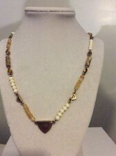 $39 LUCKY BRAND NECKLACE, CITRINE AND IVORY COLORED BEADS Scattered  316a