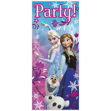 Disney FROZEN Plastic DOOR POSTER Birthday Party Supplies Decorations
