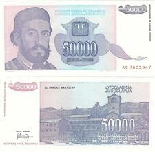 JUGOSLAVIA 50000 Dinara 1993 P-130 UNC BANCONOTA HYPER infaltion
