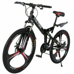 Folding/Full Suspension 26in Mountain Bike Shimano 21 Speed Bikes MTB Bicycle