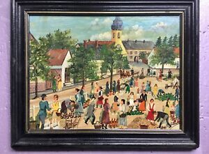 Great Vintage Hungarian - Hungary primitive village by Samuel Szuts. #2