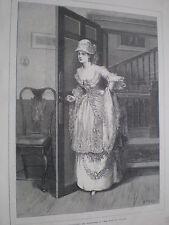 Miss Hardcastle en ella se agacha para conquistar 1872 antiguos impresión mi ref S