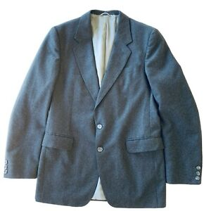 Anthony Squires Pure New Wool Grey Men's Winter Coat Suit Blazer Size 40 102L
