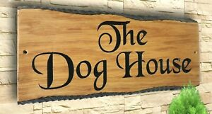 Personalised Oak Carved  Wooden Home House Number Name Sign Plaque Outdoor