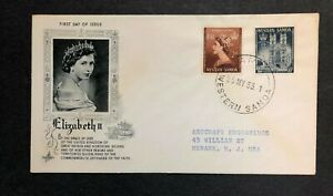 Western Samoa 1953 Coronation FDC First Day cover