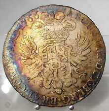 1/2 Kronentaler 1766, Maria Theresia, Brüssel, Silber