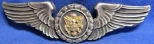 WWII Sterling Army Air Forces Air Crew 3 Inch Wings Sweetheart Badge