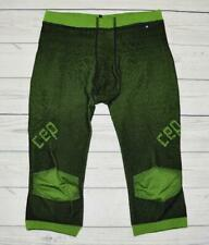 Mens Size 3 III Medium CEP Compression 3/4 Inner Pants Tights Base Layer Green