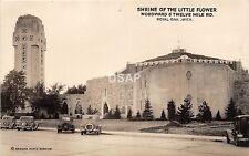 C35/ Royal Oak Michigan Mi Real Photo RPPC Postcard 40s Shrine of Little Flower2