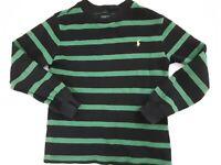 Polo ralph lauren Boys Jumper Age 7 Years black & green stripes