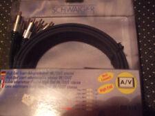 SCHWAIGER HIGH-END Scart-Adapterkabel FLV616 Scart - 6 Cinch  IN/OUT 1,5m