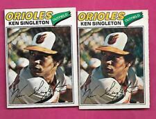 RARE 2 X 1977 OPC # 19 ORIOLES KEN SINGLETON  CARD (INV# C1301)