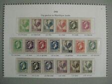 timbres français : coq gaulois et République laurée 1944 YT n° 630 à 648  *