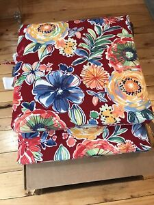 """Pillow Perfect Outdoor/Indoor Colsen Berry Square Corner Seat Cushions 20"""" X 20"""""""