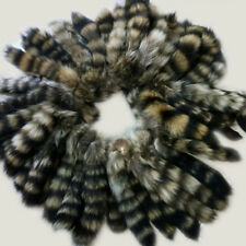 50pcs Natural Real American Raccoon Fur Tail Keychain Tassel bag charm Key Ring