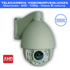 TELECAMERA PTZ MOTORIZZATA 1080p AHD LED-IR LENTI SENSORE SONY VIDEOSORVEGLIANZA