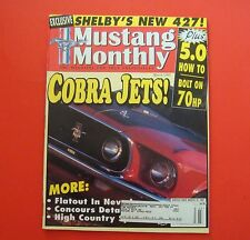 MUSTANG MONTHLY MAGAZINE MARCH/1997...COBRA JETS!...EXCLUSIVE: SHELBY'S NEW 427