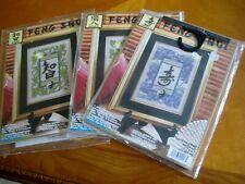 FENG SHUI Wisdom Balance Longevity COUNTED CROSS STITCH Embroidery KITS