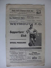 Away Teams S-Z Weymouth Non-League Football Programmes