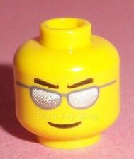 Lego - 1 Yellow Minifig Head, Silvered Sunglasses - ID 45939 No. 282 - NEW