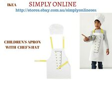 IKEA Apron with chef's Hat - Kids - Boy - Girl - Chef - Learn Cook - Quality