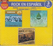 CD - Rock En Espanol NEW Zurdok Liquits Jardin 3 CD's Oferta FAST SHIPPING !