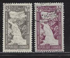 LEBANON  - C97-C99 - USED - 1945 - FALLS OF LITANI & THE CEDARS